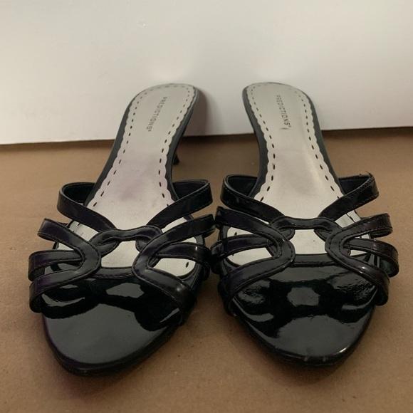 Black high heal sandals
